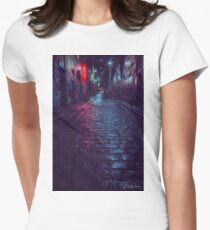Hosier Lane, Melbourne, Victoria, Australia. Women's Fitted T-Shirt