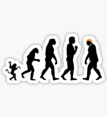 Trump evolution II Sticker