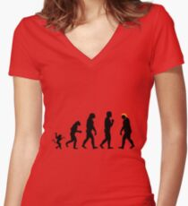 Trump evolution II Women's Fitted V-Neck T-Shirt