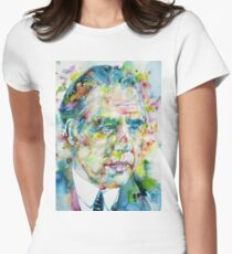 NIELS BOHR - watercolor portrait Womens Fitted T-Shirt