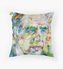 NIELS BOHR - watercolor portrait Throw Pillow
