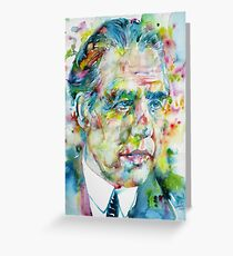 NIELS BOHR - watercolor portrait Greeting Card