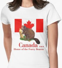 Furry Canada Women's Fitted T-Shirt