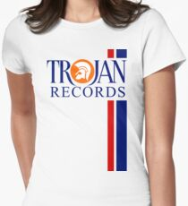 TROJAN RECORDS TWO STRIPE Womens Fitted T-Shirt