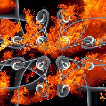 Roses in Flames by GeordieBoi
