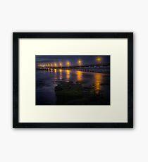Sea Lights Framed Print
