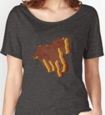 Vintage Horse I Love Horses Silhouette Retro Art Women's Relaxed Fit T-Shirt