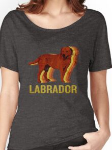 Vintage Labrador Retriever I Love Dogs Retro Art Women's Relaxed Fit T-Shirt