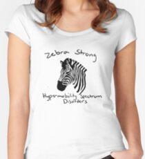 Zebra strong - HSD Women's Fitted Scoop T-Shirt
