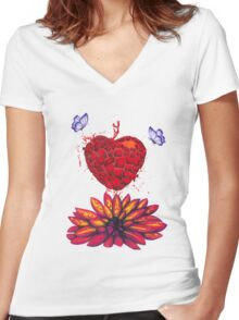Find your Flower Women's Fitted V-Neck T-Shirt