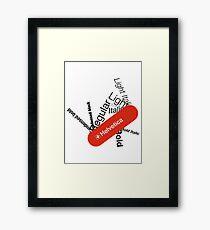 Helvetica Swiss Army knife Framed Print