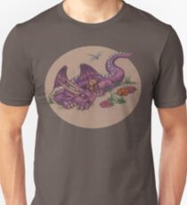 Napping Dragon (with teddy bear) Unisex T-Shirt