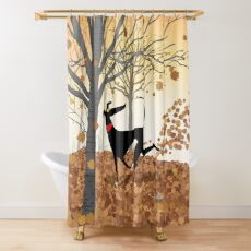 Autumn Hound Shower Curtain