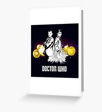 Doctor Who With Gallifrey Steampunk Greeting Card