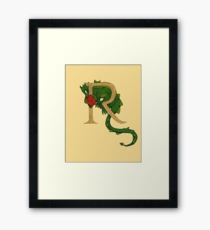 "Oscar and the Roses ""R - Tail"" (Illustrated Alphabet ) Framed Print"