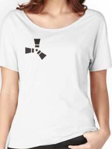 rust logo-black and white Women's Relaxed Fit T-Shirt