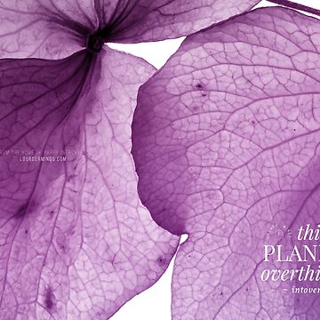 Thinking, Planning, Overthinking, Introverting (Lilac Flourish) by louderminds