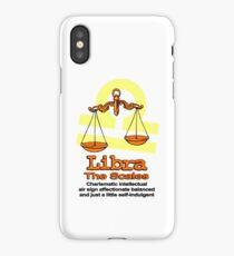 Libra the scales in orange iPhone Case/Skin