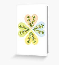 Vegan flowers logo Greeting Card