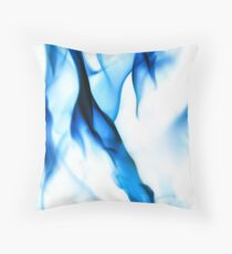 Blue Fire Throw Pillow