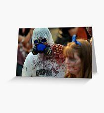 Zombie In Hazmat Suit Greeting Card