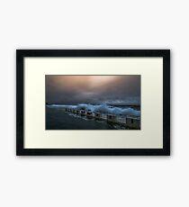 Newcastle Merewether Ocean Baths Framed Print
