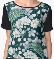 chameleons and orchids  Chiffon Top
