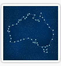 Australia map with stars in the universe illustration Sticker