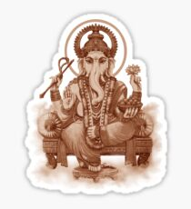 Ganesh the Remover of all obstacles Sticker