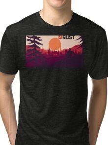 Rust background Tri-blend T-Shirt