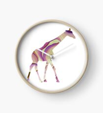 Purple Giraffe Clock