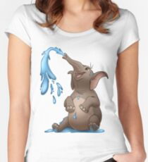 Happy Elephant Women's Fitted Scoop T-Shirt