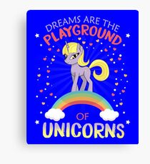 Dreams The Playground Of Unicorns Canvas Print
