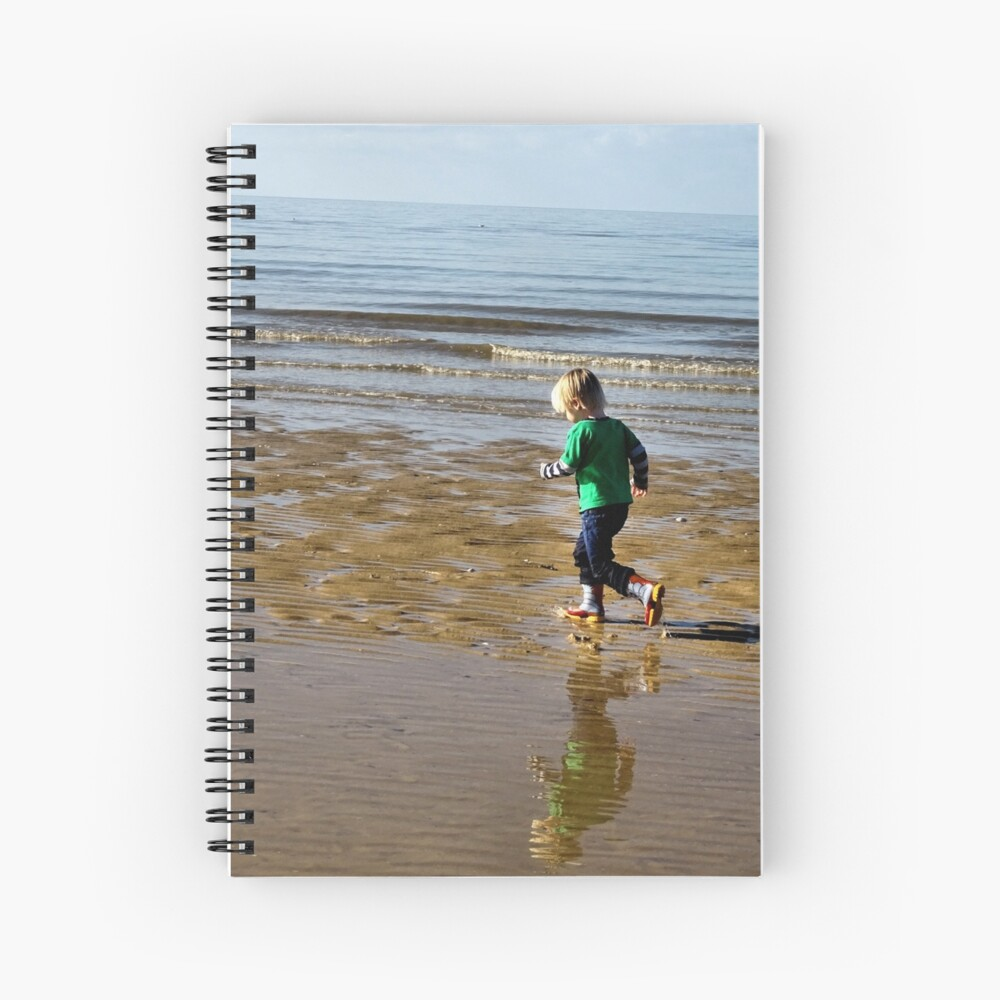 Shore run Spiral Notebook