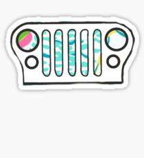 YGR Lilly Jeep Grill Sticker