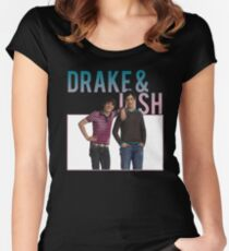 retro drake & josh. Women's Fitted Scoop T-Shirt