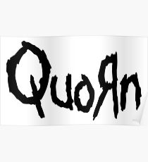 Quorn Nu Metal Vegan Vegetarian Design Korn Poster