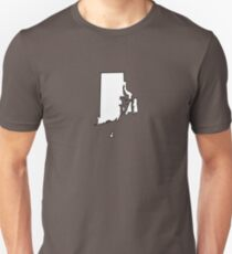 Rhode Island - White Outline Unisex T-Shirt