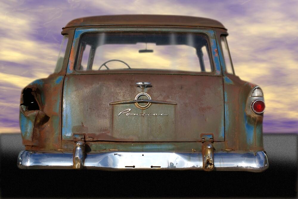 56 Pontiac rear view by Rod  Adams