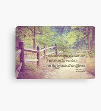 Road Not Taken Robert Frost Canvas Print
