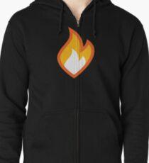 Flammable Zipped Hoodie