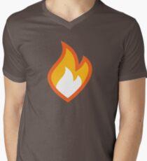 Flammable Mens V-Neck T-Shirt