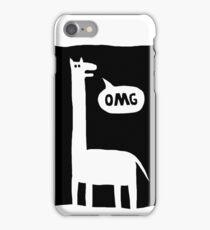 crazy giraffe iPhone Case/Skin