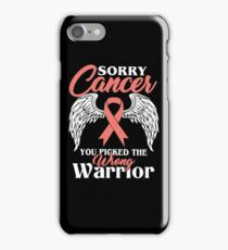 Sorry Breast Cancer T Shirt iPhone Case/Skin