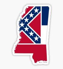 Mississippi State Flag Map Sticker