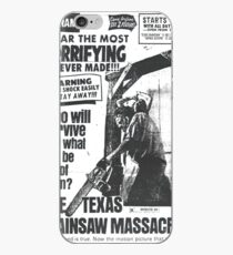 The Texas Chainsaw Massacre Vintage Newspaper Ad iPhone Case