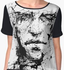 Face of lines and INK Women's Chiffon Top