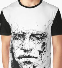 Face of lines and INK Graphic T-Shirt