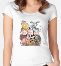 Farm Animals Women's Fitted Scoop T-Shirt