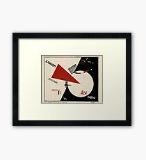El Lissitzky - Beat the Whites with the Red Wedge! (1920) Framed Print